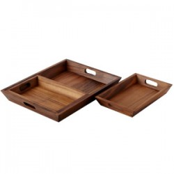 3-Pce Home Essentials Small, Medium & Large Rectangular Tray Set