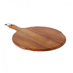 Chefs  Round  Handled Pizza Board