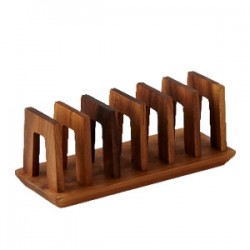 Trio Toast Rack, Black Eva Feet